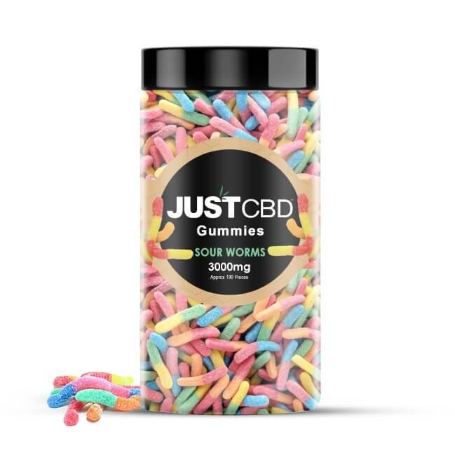 CBD Gummies Sour Worm 3000mg